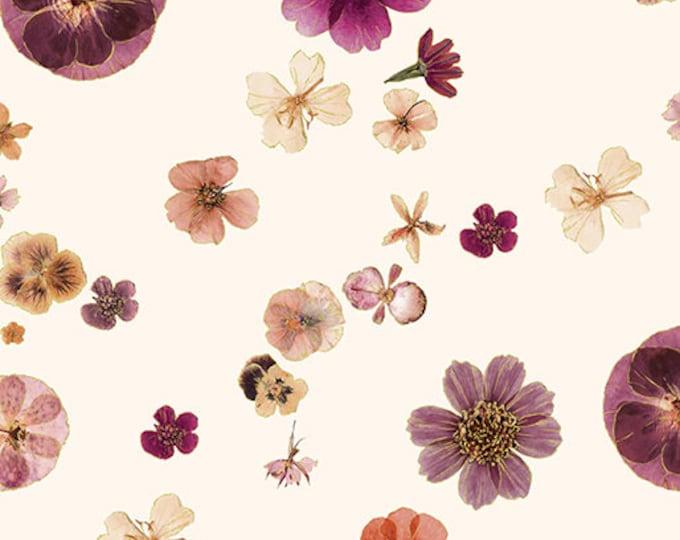 Kanvas - Floral Impression - Gold Metallic - Rose - Floral - Flowers - 8678M-07