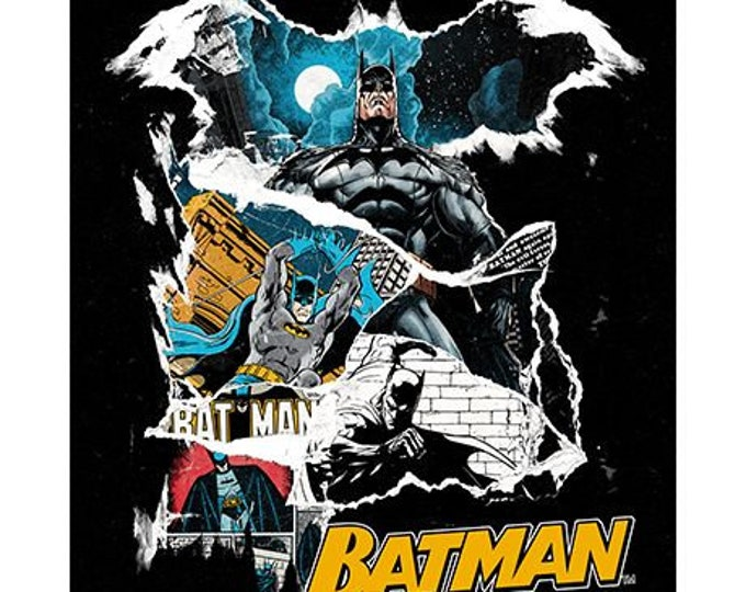 """Camelot - Batman -  PANEL  - approx 36""""x44"""" -  80th Anniversary - DC Comic Panel - Sold by the Panel"""