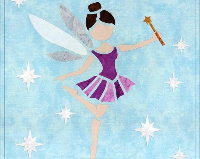 "Sew Enchanted - Purple Fairy - Pre-cut/fused Kit - 15""x15"" - Precut/Fused Applique Kit - precut kit -  Sold by the Kit"
