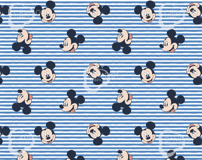 Camelot - Mickey Stripe -  Disney - Oh Boy - Mickey - Disney Fabric  - Sold by the Yard