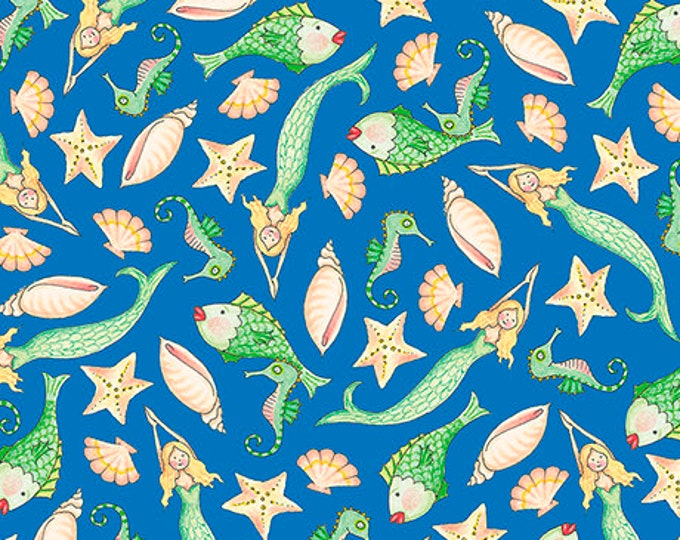 Quilting Treasures - Mermaid Merriment - Sea fabric  -  Sold by the Yard- 26522B