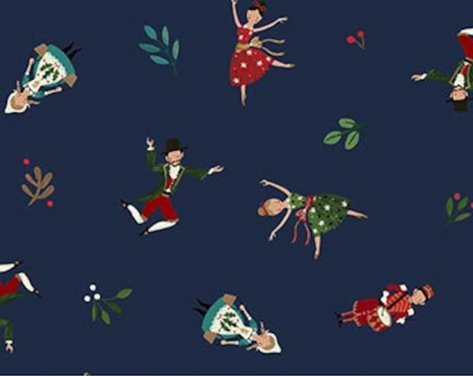 New - Northcott  - 12 Days of Christmas -  Little People - Navy - DP23456-49-  Sold by Yard