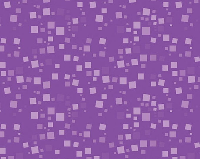 Benartex - Small Geo Squares  -  Tonal Squares - Purple - 420866B - Sold by the Yard