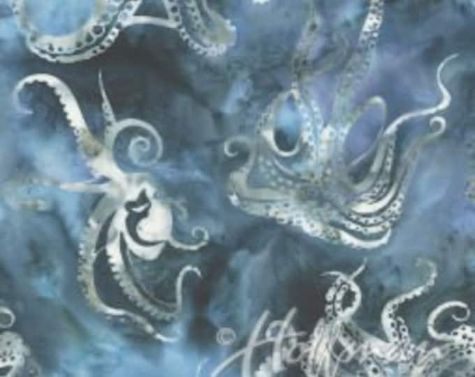 Hoffman - Bali Batik - Hand Died - Batk - Sea Theme Batik - Summer - By Wildfire Design  Alaska - Octopus - Q2169-147- Sold by the Yard
