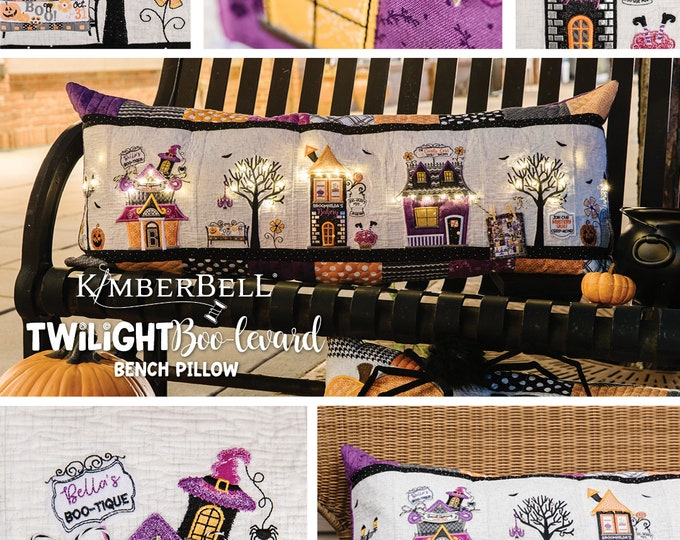 Kimberbell - Twilight Boo-Levard Bench Pillow - Kit - Embroidery CD and Embellishment Kit  - Sold by the Kit - FREE SHIPPING