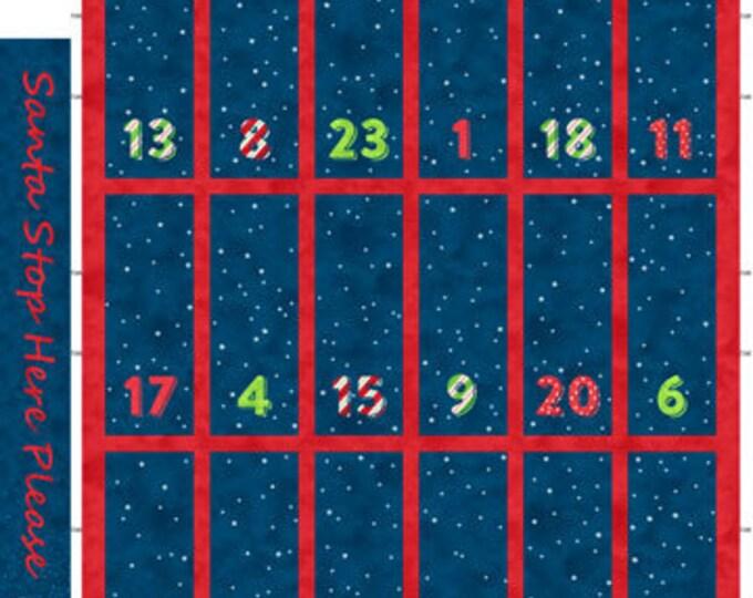"Northcott - Santa Stop Here - Advent Panel - Santa Panel - Christmas - Holiday Fabric -  DP23486 49 -  24""x44"" - Sold by the Panel"