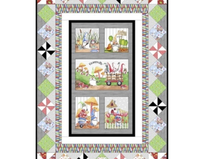 "Quilting Treasures - Gnomeville - Pattern - Gnome Character Pattern -  51""x72"" - Gnome -  Pattern Only"