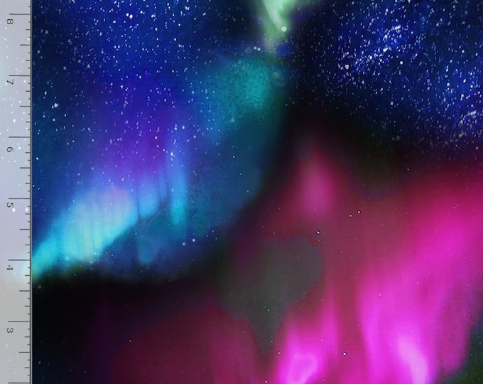 Timeless Treasures - Night Aurora Sky - Northern Lights - Sky - Aurora - C6792 -  Sold by the Yard