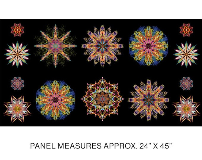 Benartex - Duets - Multi - 12350-99 - Manadals - by Paula Nadlestern - Panel