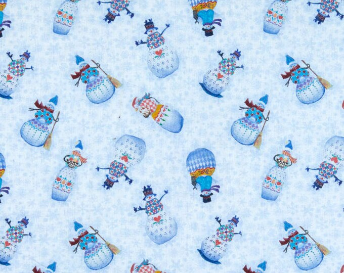 Benartex - A Quilter's Christmas  - Snowman Village   - Blue -  06659-05  - Sold by the Yard