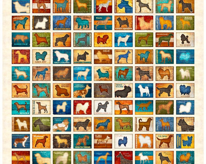 "Quilting Treasures - Must Love Dogs - Panel - 36""x44""  - 26935E - Sold by the Panel"