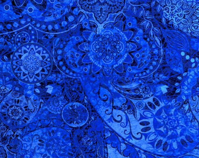 Quilting Treasures - Bohemian Rhapsody - Ombre - 26956BY -  Bell Bottom Blue - Fabric - Sold by the Yard