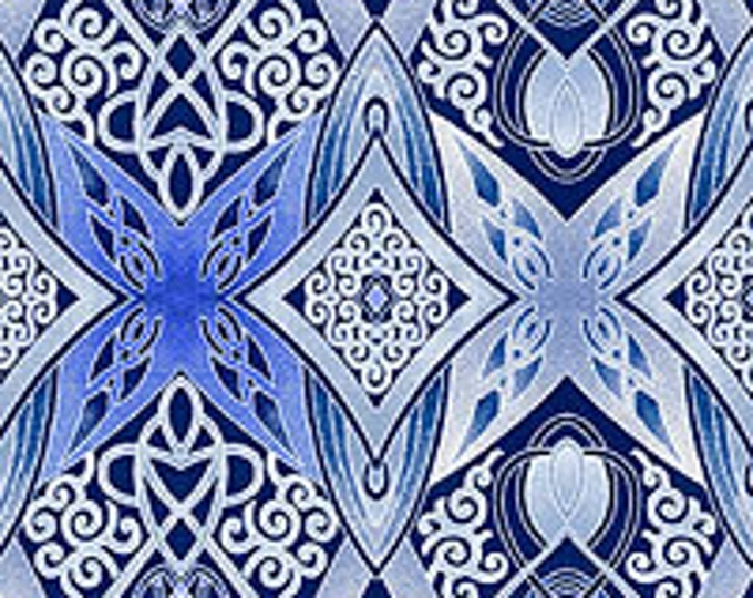 Benartex - Artful Snowflake  - By Paula Nadelstern - Snowflake -  Snowflake -  Silver Metallic - 6892M-55 - Sold by the Yard