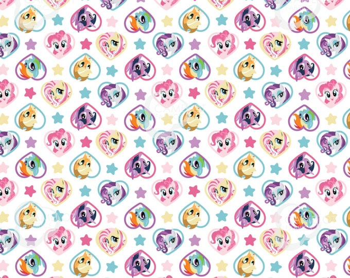 Camelot - Hasbro - My Little Pony - My Little Pony Friends -  Heart Fabric - 95010112 - Sold by the Yard