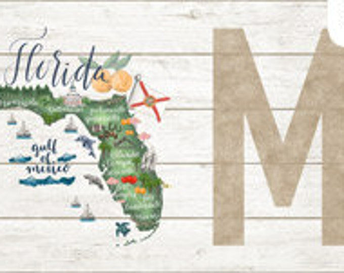 "Northcott - My Home State - Florida State Panel - Florida Panel  - DP23138-10 - Panel - 18""x43""-  Sold by the Panel"