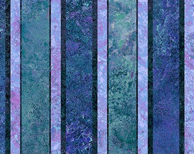 "Northcott - Stonehenge - Verona - Stripe - Twillight / Midnight -  23882-47  - 36""x44"" -  Sold by the Yard"