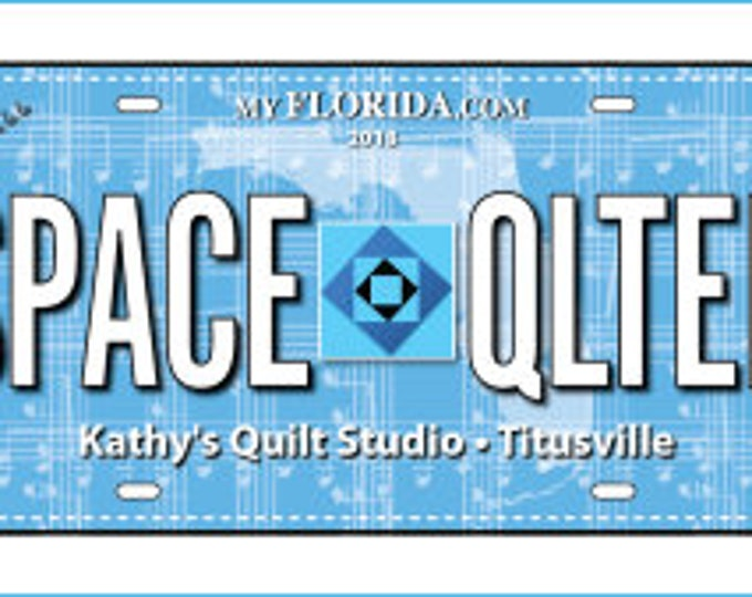 Row by Row License Plate 2018 - Space Quilter - Sew Musical - 2018 RowxRow