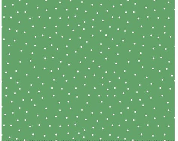 Quilting Treasures - Steampunk Halloween - Dots - Green - Steam Punk  - 27775GS - Sold by the Yard