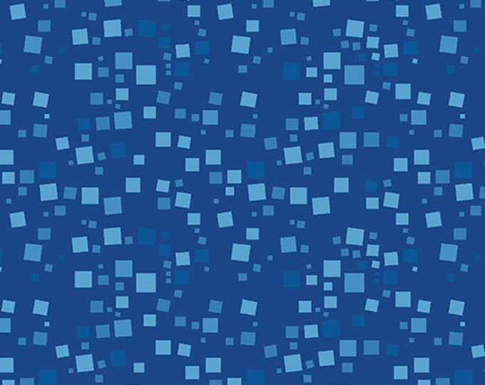 Benartex - Small Geo Squares  -  Tonal Squares - Blue - 420850B - Sold by the Yard