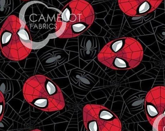 NEW Camelot - Spider-Man - Spiderman - Marvel Kawaii - Marvel - Web - 13080018-02 - Black - Sold by the Yard