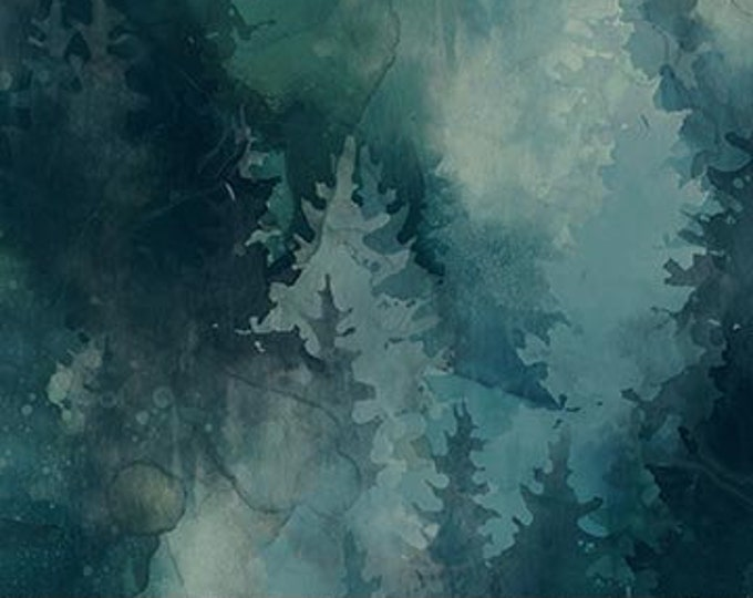 """NEW - Northcott  - Whispering Pines - DP23753-66 - Pine Trees - Scenic Mountains - 36""""x44"""" - Sold by the Yard"""