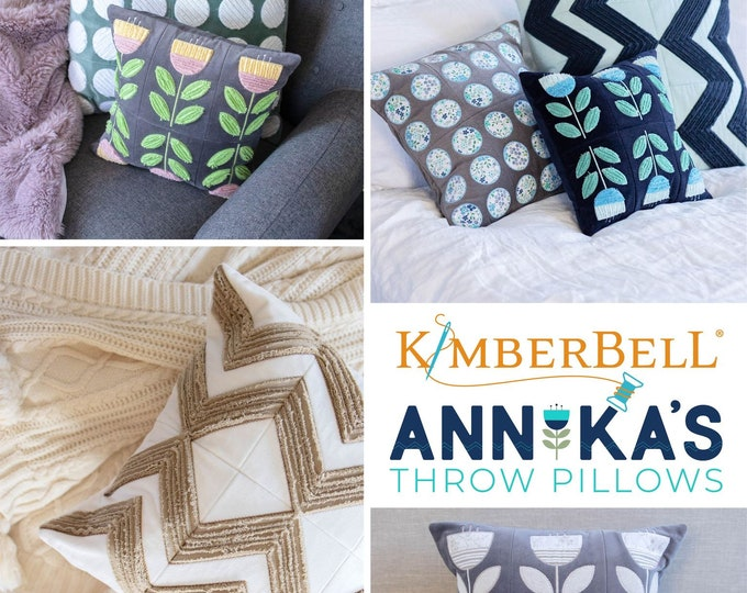 New Kimberbell - Annika's Throw Pillow CD - Chenille Pillow - Throw Pillow -  Sold by the cd - Free Shipping