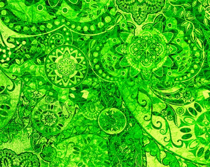 Quilting Treasures - Bohemian Rhapsody - Ombre - 26956GH -  Green Eyed Lady  - Fabric - Sold by the Yard