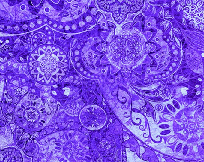Quilting Treasures - Bohemian Rhapsody - Ombre - 26956L -  Purple Haze  - Fabric - Sold by the Yard