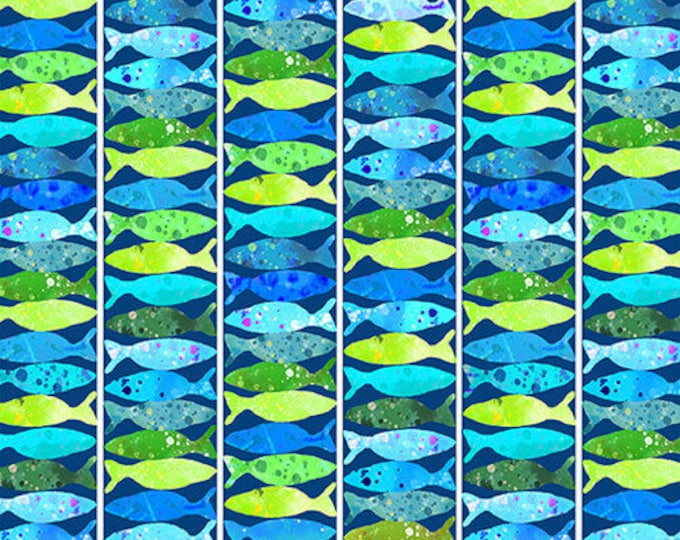 Studio E - Ocean State - Ocean State - Fish - Fish  Fabric - Ocean  - Under the Sea  -  4508-77 - Sold by the Yard