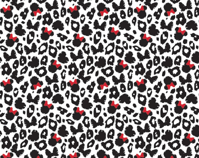 Camelot - Minnie Mouse - Dreaming in Dots - Leopard Print - Minnie -  Disney - Minnie Mouse- 85270202-04 - Disney Fabric - Sold by the Yard