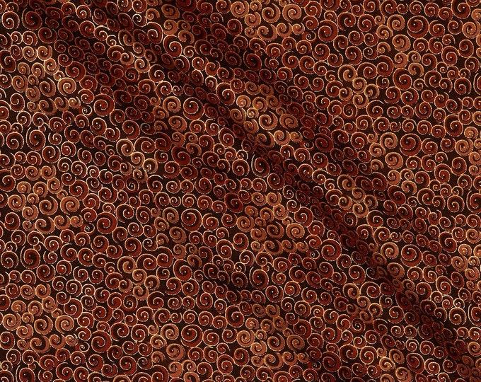 Blank Quilting - Spiral Metallics - Brown -  M9994-39 - Metallic - Sold by the yard