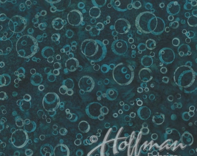 Hoffman - Bali Batik - Hand Died - Batk - Sea Theme Batik - Summer - By Wildfire Design  Alaska - Bubbles - Q2165-21 - Sold by the Yard