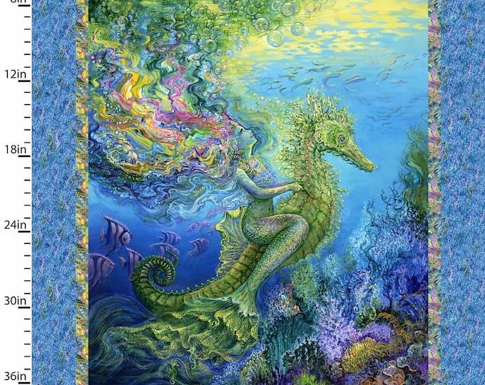 Three Wishes - Mystic Ocean - Mermaid Panel - Mermaid - Seahorse -  Panel - Sold by Panel