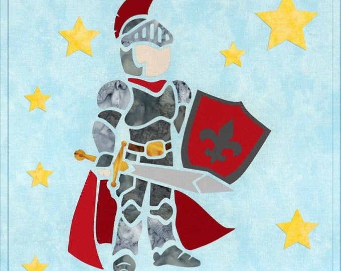 "Sew Enchanted - Knight - Pre-cut/fused Kit - 15""x15"" - Precut/Fused Applique Kit - precut kit -  Sold by the Kit"