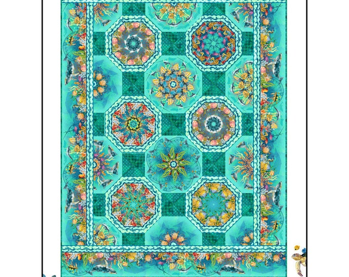 In the Beginning Fabrics - Calypso - Jason Yenter - Calypso One Fabric Kaleidoscope Quilt Pattern