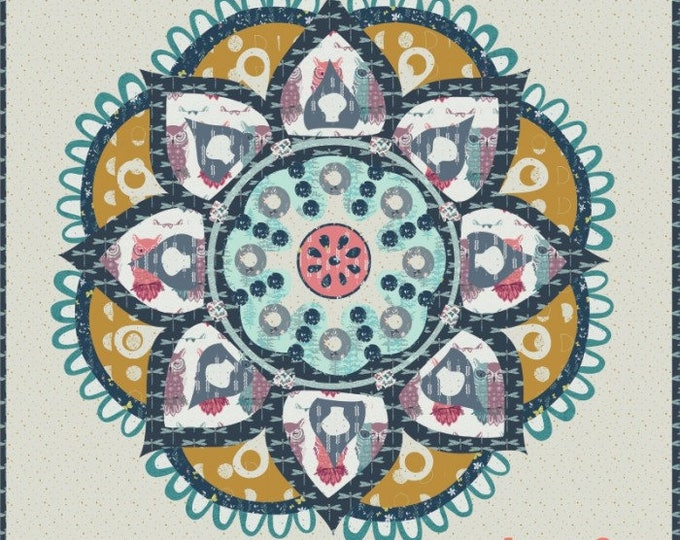 "Lost Ledgends  - Pre-cut/fused Kit - 30""x30"" - Applique Kit including Pattern and Background Fabric - precut kit - By Madisen Hastings"