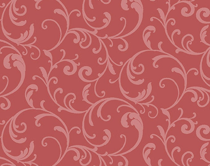 Benartex - Classic Scroll  - Scroll Fabric -  Coral - Blender - 3628-26 - Sold by the Yard