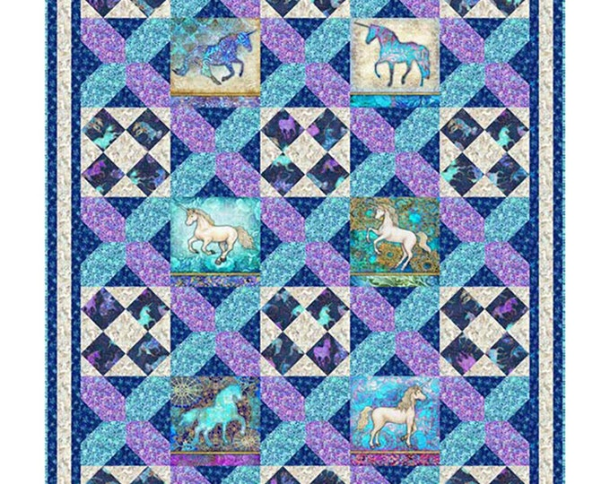 "New - Quilting Treasures - Mystical - Quilt Pattern - Quilt Size 54.5"" x 64""-   Wall Hanging 51""x37"" - Fabric Req Below -  Sold by Pattern"