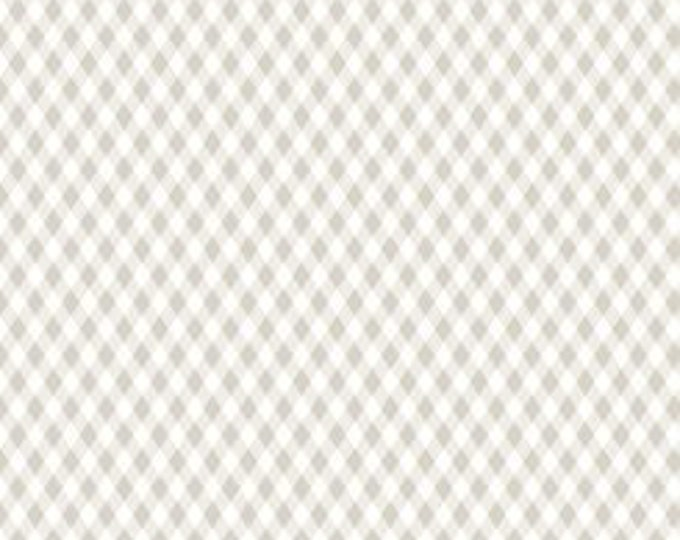 Quilting Treasures - Sweet Caroline - Diamond Check -  Lattis -  Check Fabric - Gray - 26991 -K -  Sold by the Yard