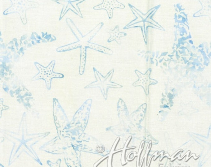 Hoffman - Bali Batik - Hand Died - Batk - Sea Theme Batik - Summer - By Wildfire Design  Alaska - Star Fish - Q2167-443- Sold by the Yard