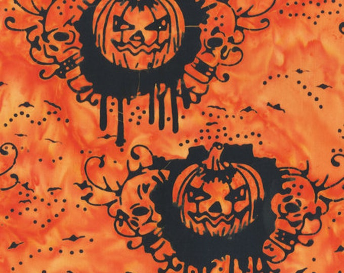 Anthology - Batik - 9008Q3 - Trick or Treat - Pumpkins - Orange - Halloween Batik - Halloween - Sold by the Yard