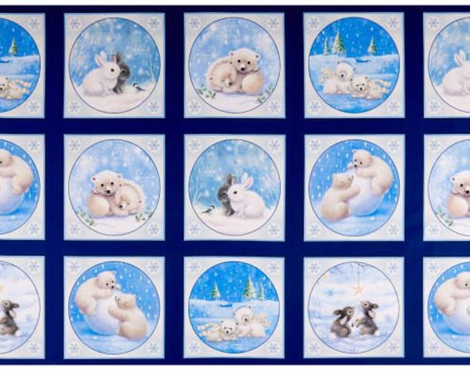 "Quilting Treasures - Woodland Cuties  - Baby Animals - Christmas - Panel -  27""x44""  - 27112NB - Sold by the Panel"