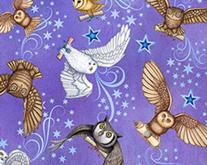 Quilting Treasures - Spellbound - Sold by Yard - Owls - Light Purple - 26612 V