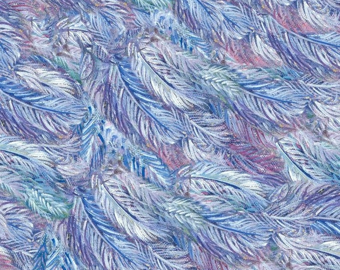 3 Wishes - Three Wishes - Celestial Journey - Feather - Feather Fabric -  17135 - Sold by Yard