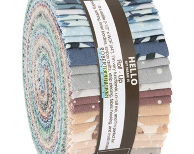 Robert Kaufman - Elizabeth Hartman - Arctic - Jelly Roll - RU-788-40 -  40 (2.5 Inch Strips)