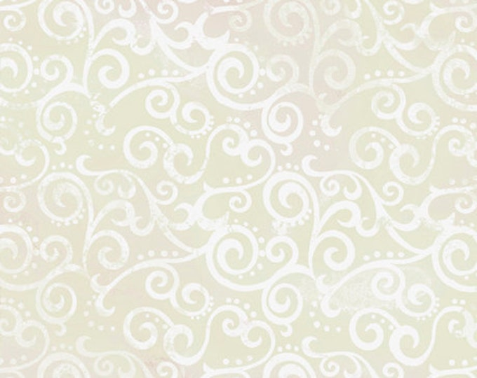"""Quilting Treasures - Ombre Scroll - Wide Back - Chrystal / White - 108"""" Wide - 24775KZ - Sold by the Yard - 36"""" x 108"""""""