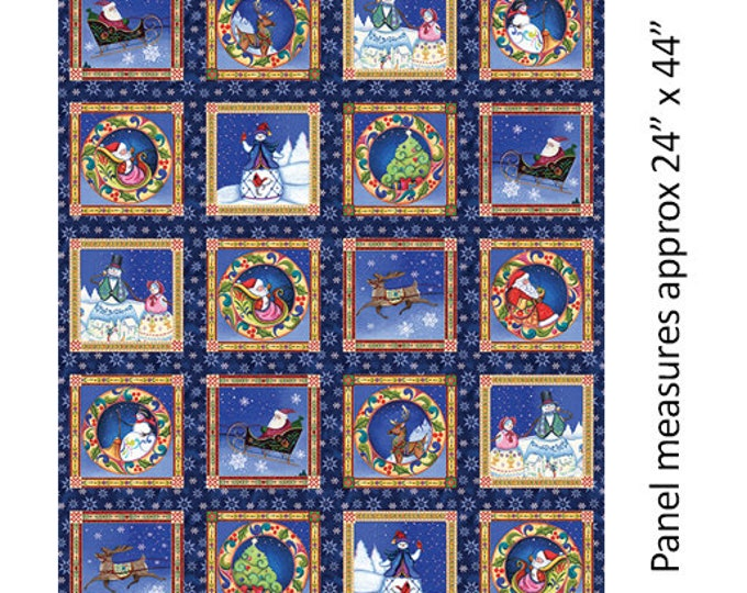 Benartex - A Quilter's Christmas  - Block Panel   - Square Panel - Multi -  06653-99 - Sold by the Panel