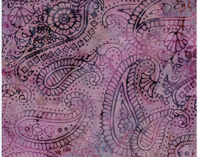 Island Batik - Paisley Outlining - Paisley Batik - Paisley - Batik - Dusty Rose - Sold by the Yard