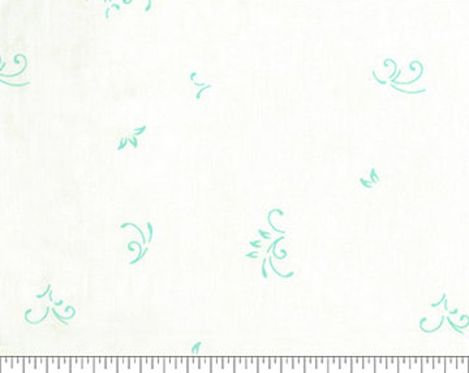 Northcott - Banyan Batik - Intaglio - Metallic Batik - Neutral Batik  - 80300-11 - Batik - Teal/Cream- Sold by the yard