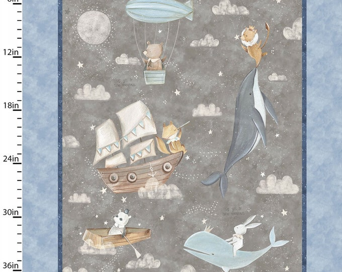 Three Wishes -Adventure in the Sky  -  Panel - Large Panel - Full Yard Panel - 14659  - Sold by Panel